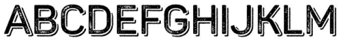 Panton Rust Semi Bold Grunge Shadow Font UPPERCASE