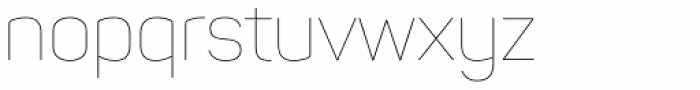 Panton Thin Font LOWERCASE