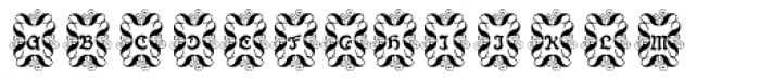 Paola Decorative Font UPPERCASE