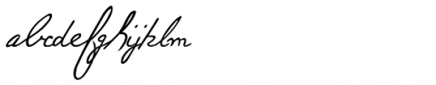 Paolo Handwriting Font LOWERCASE
