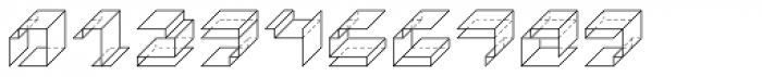 Paper Cube Cube Font OTHER CHARS