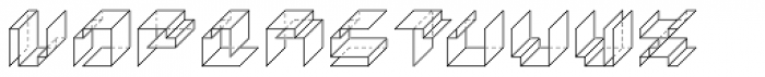 Paper Cube Cube Font LOWERCASE