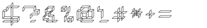 Paper Cube Paper Font OTHER CHARS