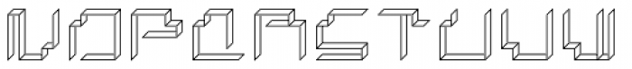 Paper Cube Paper Font LOWERCASE