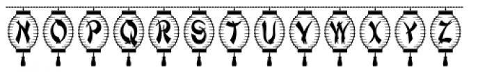 Paper Lanterns Font UPPERCASE