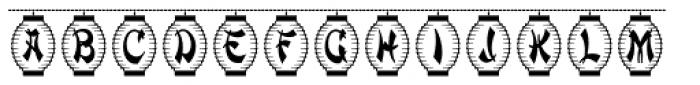Paper Lanterns Font LOWERCASE