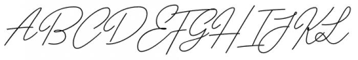 Papillon Script Font UPPERCASE