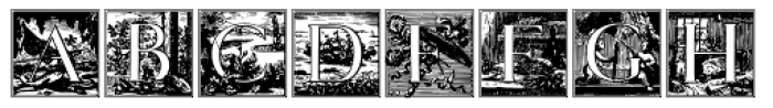 Papillon Woodcuts Font UPPERCASE