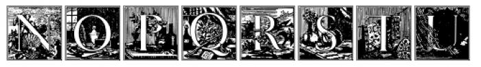 Papillon Woodcuts Font LOWERCASE