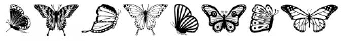 Papillon Font LOWERCASE