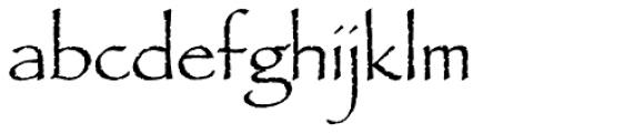 Papyrus Std Regular Font LOWERCASE