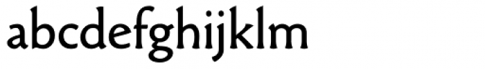 Paradigm Regular Font LOWERCASE