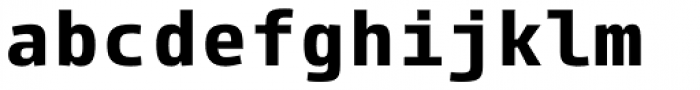 Paradroid Mono Bold Font LOWERCASE