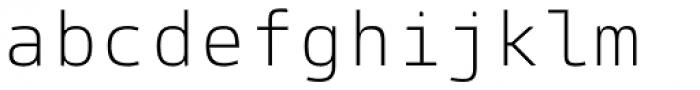 Paradroid Mono Light Font LOWERCASE