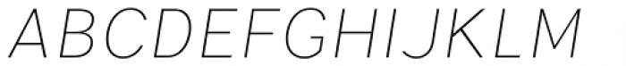 Parca Light Italic Font UPPERCASE