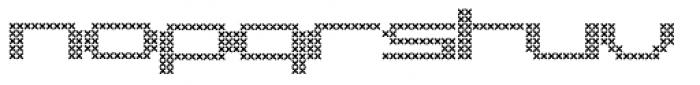 Pargrid Cross Font LOWERCASE