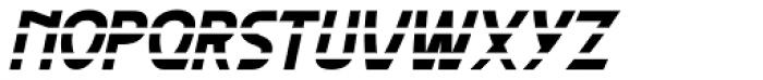 Paris Metro Italic Font UPPERCASE