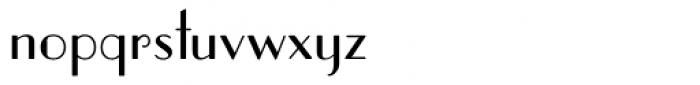 Parisian ICG Font LOWERCASE