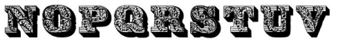 Parisian Ornamentals Font UPPERCASE
