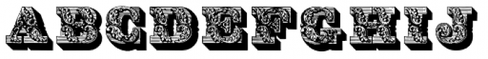Parisian Ornamentals Font LOWERCASE