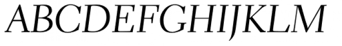 Parkinson Electra Pro Italic Font UPPERCASE