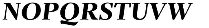 Parkinson Electra Std Heavy Italic Font UPPERCASE