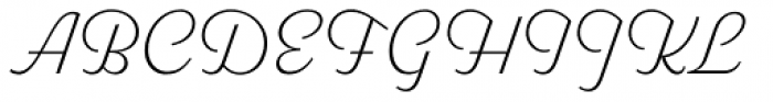 Parkside Thin Font UPPERCASE