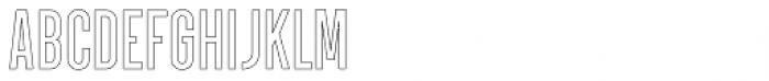 Parkson Outline Semi Bold Font UPPERCASE