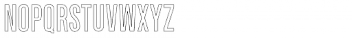 Parkson Outline Semi Bold Font LOWERCASE