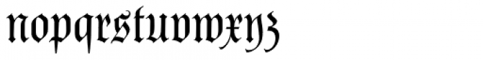 Parler Fraktur Regular Font LOWERCASE
