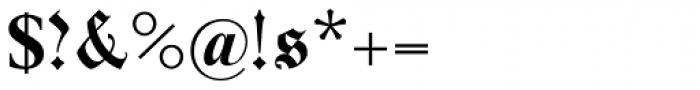 Parler Gotisch Font OTHER CHARS