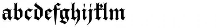 Parler Gotisch Font LOWERCASE