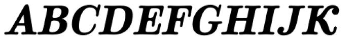 Parma Typewriter Pro Bold Italic Font UPPERCASE