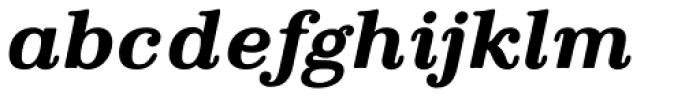 Parma Typewriter Pro Bold Italic Font LOWERCASE