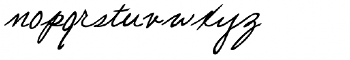 Pascal Handwriting Font LOWERCASE