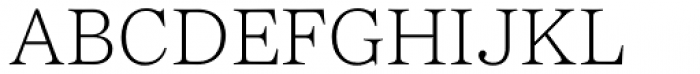 Passenger Serif Extralight Font UPPERCASE