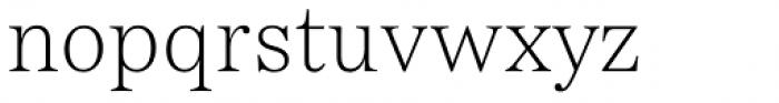 Passenger Serif Extralight Font LOWERCASE
