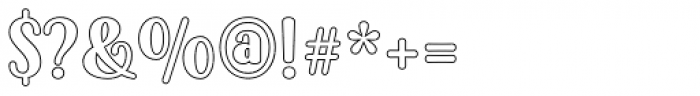 Passiflora Outline Font OTHER CHARS