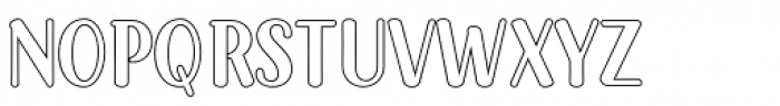 Passiflora Outline Font LOWERCASE