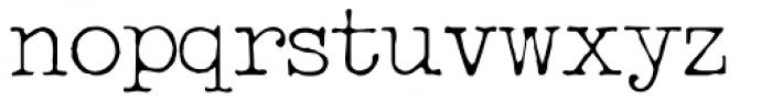 Passport Mono Thin Font LOWERCASE