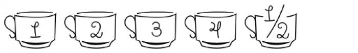 Pasta Script Cuccina Dingbats Font OTHER CHARS