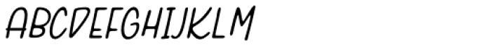 Pasteque Italic Font UPPERCASE
