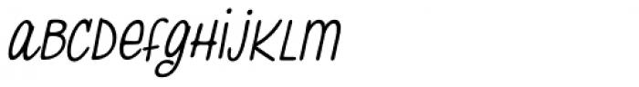 Pasteque Italic Font LOWERCASE