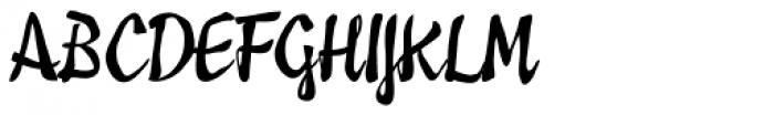 Pastiche Brush Font UPPERCASE