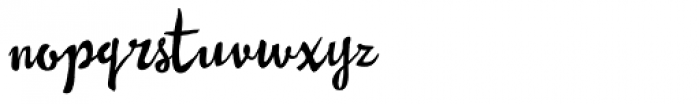 Pastiche Brush Font LOWERCASE