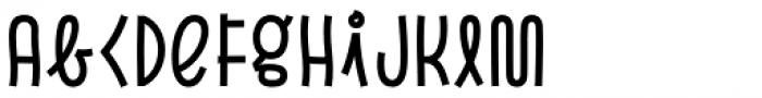 Pasto Sharp Regular Font LOWERCASE