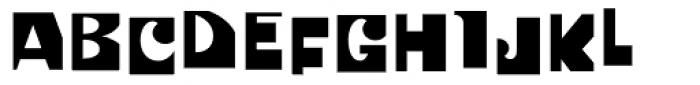 Patchwork Cut Font UPPERCASE
