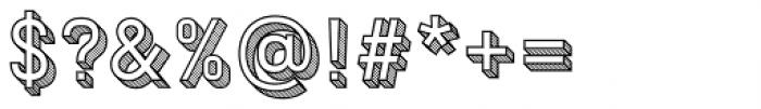 Patrima Hatched Outline Font OTHER CHARS
