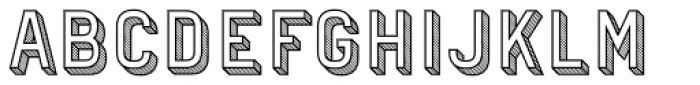 Patrima Hatched Outline Font UPPERCASE