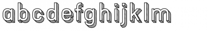 Patrima Hatched Outline Font LOWERCASE